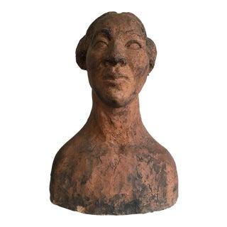 Vintage Terracotta Female Bust Statuw