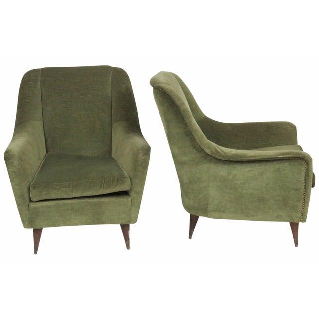Italian Modern Lounge Chairs - Pair - Image 1 of 8