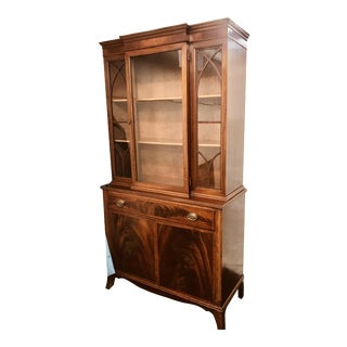 1940s Mahogany Duncan Phyfe China Cabinet For Sale