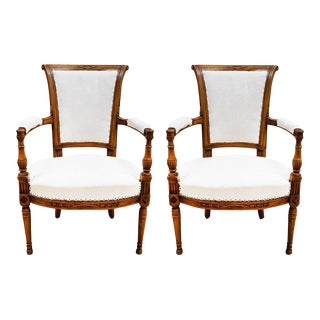 Late 19th Century French Directoire Style Armchairs - a Pair