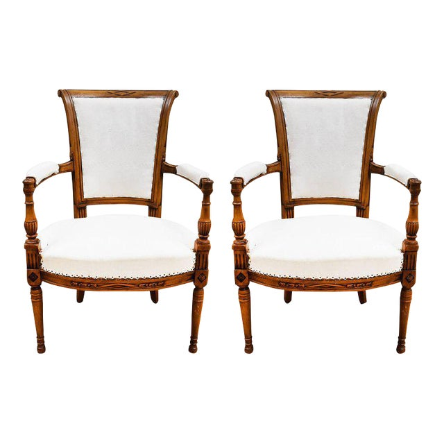 Late 19th Century French Directoire Style Armchairs - a Pair - Image 1 of 10