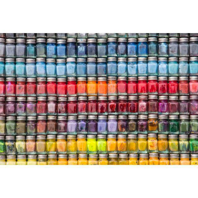 "Modern ""Spectrum"" Enamel Paint Bottle Framed Collage For Sale - Image 3 of 3"