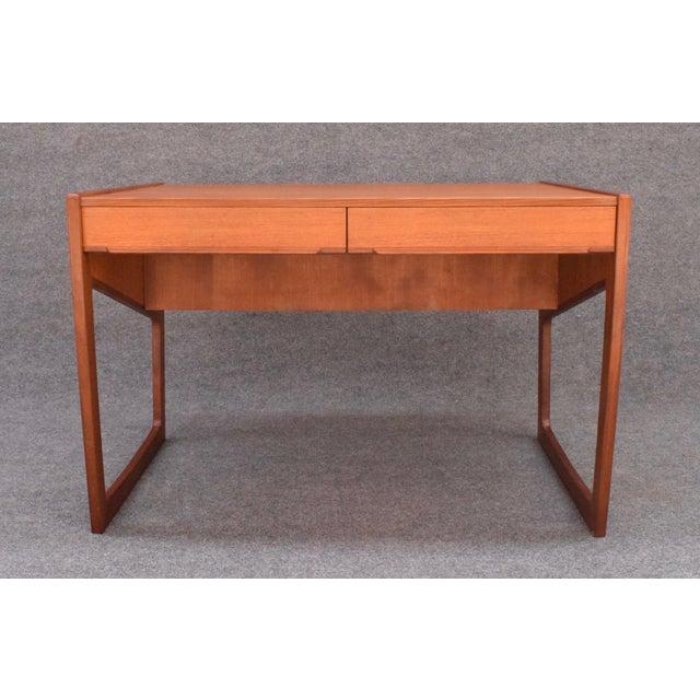 3ee7a35b9eee4 Mid-Century Modern Vintage Danish Mid Century Modern Teak Writing Desk For  Sale - Image