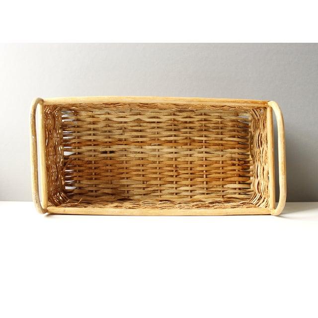 Vintage Rattan Basket or Planter - Image 4 of 5