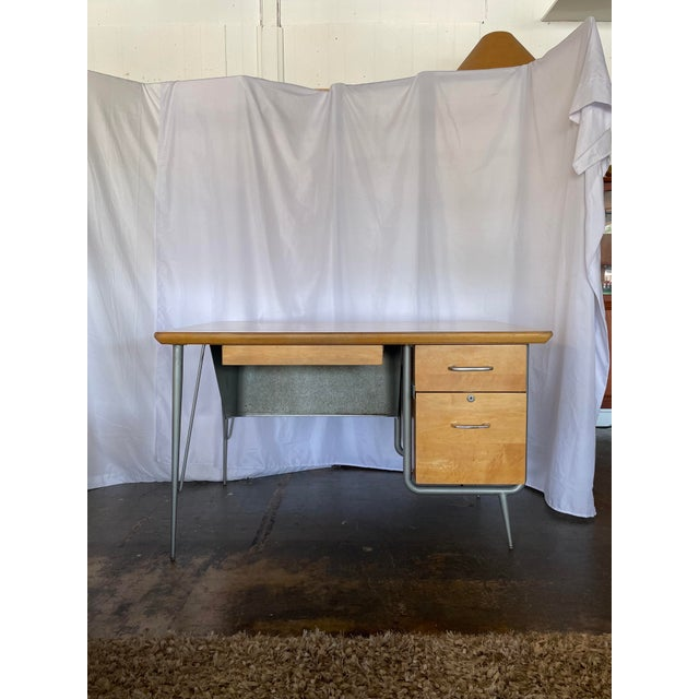 1950s Brunswick & Co Mid Century Writing Desk For Sale - Image 13 of 13