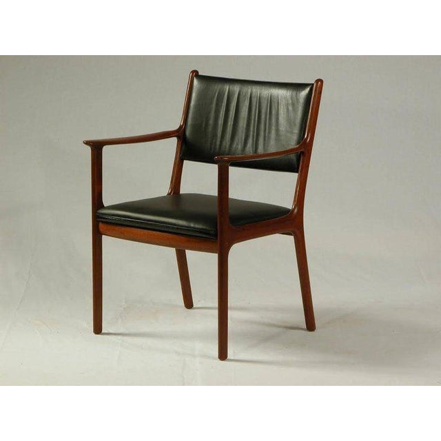 Wood 1950s Ole Wanscher PJ 412 Mahogany Armchair For Sale - Image 7 of 7