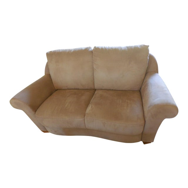 Natuzzi Florence Suede Loveseat For Sale