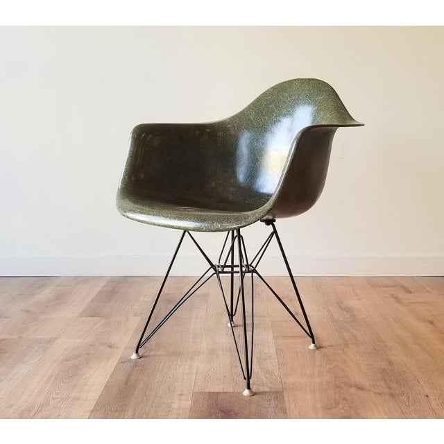 1960s Olive Green Eames DAR Eiffel Chair For Sale - Image 13 of 13