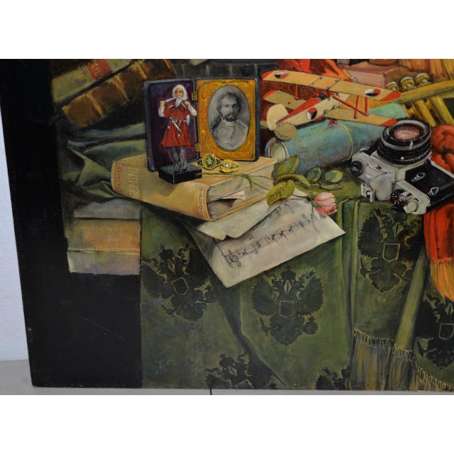 Late 20th Century Surreal Still Life Landscape by Ayers C.1995 For Sale - Image 4 of 13