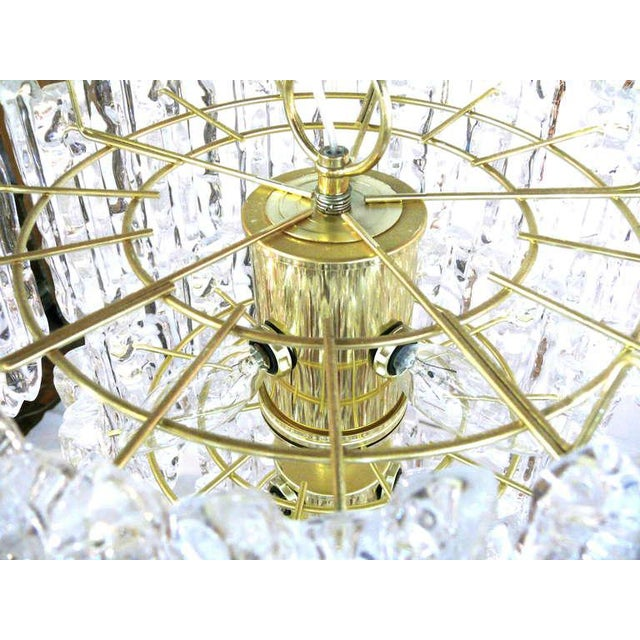 Metal Tiered Lucite Icicle Chandelier For Sale - Image 7 of 10