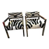 Image of Hollywood Regency Harvey Probber Styled Club Chairs Newly Upholstered - Pair For Sale