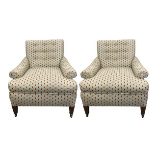 Newly Upholstered 1940s Club Chairs - a Pair For Sale