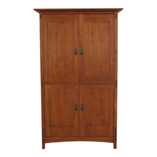 21st Century Stickley Mission Oak Armoire For Sale