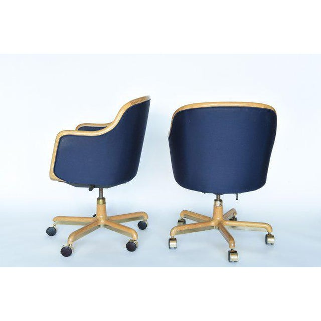 Contemporary 1970's Pair of Desk Chairs by Ward Bennett for Brickel Associates For Sale - Image 3 of 11