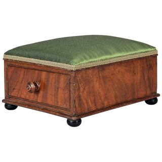 Victorian Mahogany Footstool For Sale