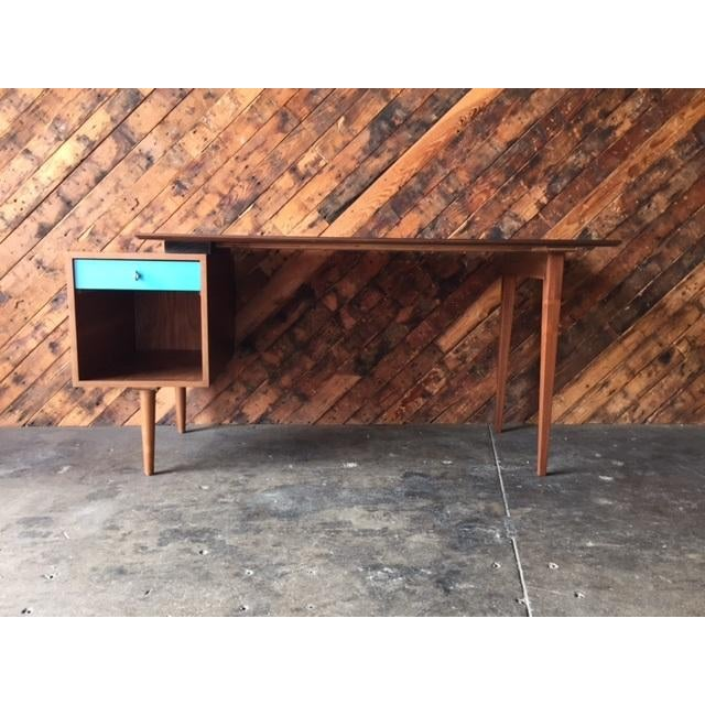 Mid-Century Style Walnut Desk - Image 2 of 8