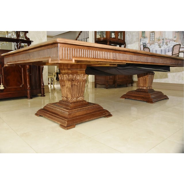 Late 20th Century Contemporary Double Pedestal Banquet-Sized Extension Dining Table For Sale - Image 5 of 10