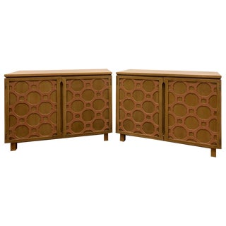 Pair of Hollywood Regency Chests by Bert England for Forward Trend For Sale