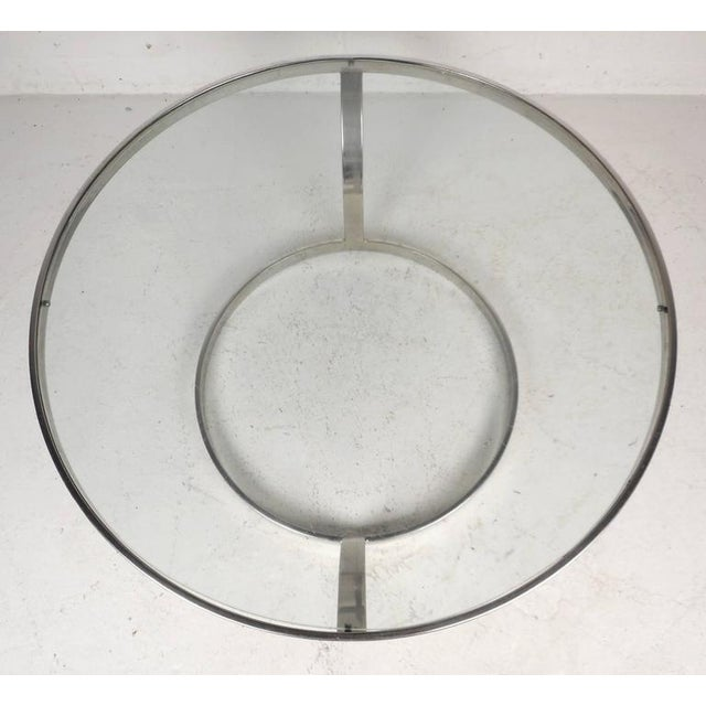 Milo Baughman Milo Baughman Style Mid-Century Modern Chrome Coffee Table For Sale - Image 4 of 6