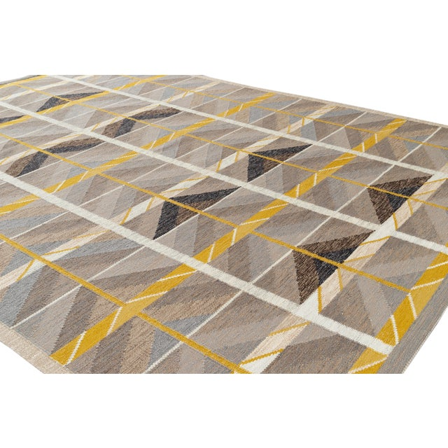 21st Century Modern Scandinavian Style Flat-Weave Rug For Sale - Image 9 of 12