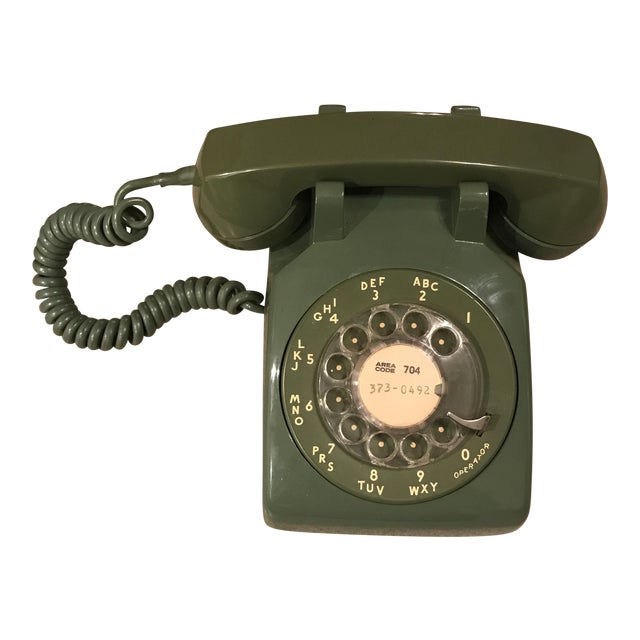 Vintage Western Electric Green 500 Rotary Phone For Sale