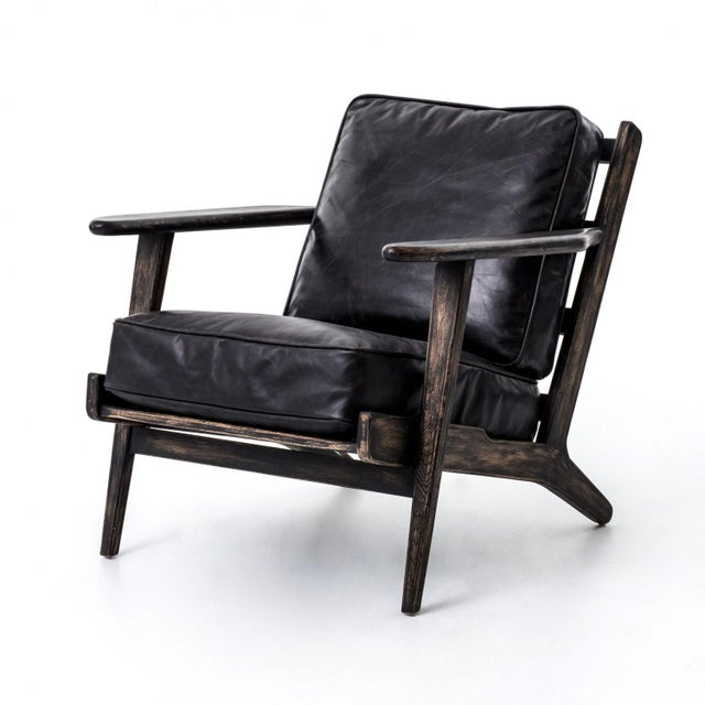 Baxter Black Lounge Chair For Sale In Los Angeles - Image 6 of 6