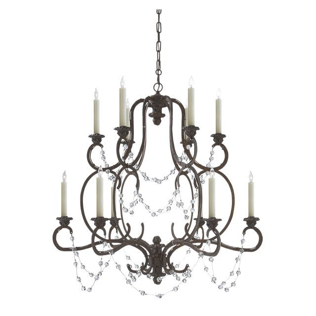 Visual Comfort Niermann Weeks Lombary Double Tiered Chandelier For Sale - Image 10 of 11