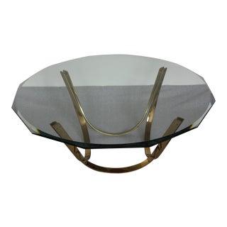 Modern Brass Coffee Cocktail Table Rodger Sprunger Dunbar Reversible