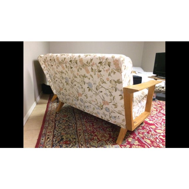 Mid Century Modern Atomic Long Couch - Image 4 of 10