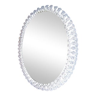 Oval Illuminated Mirror by Emil Stejnar For Sale