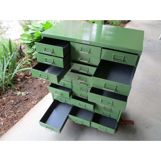 Green 1950's Steelmaster Art Industrial Metal Steel Cabinet For Sale - Image 8 of 11