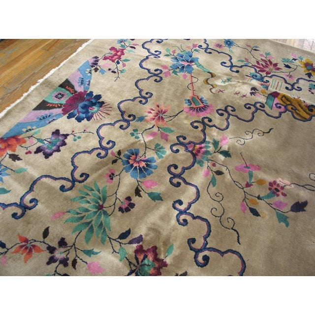 Chinese Art Deco Rug For Sale In New York - Image 6 of 8