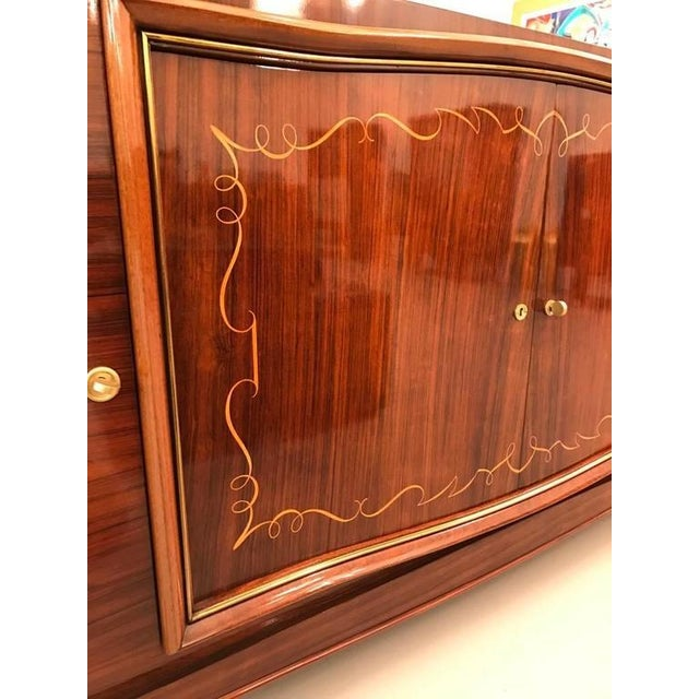 French Art Deco Palisander Buffet with Black Glass Top - Image 3 of 9