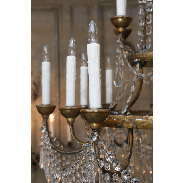 Large-Scale Neoclassical Chandelier For Sale - Image 9 of 13