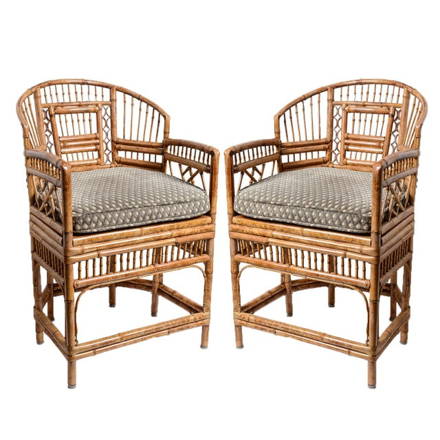Brighton Bamboo Barrel Chairs, A-Pair For Sale - Image 13 of 13