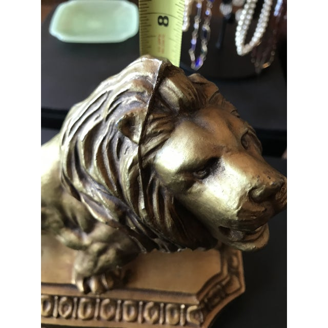 1950s Metal Lion Sculpture/Statue For Sale - Image 4 of 10