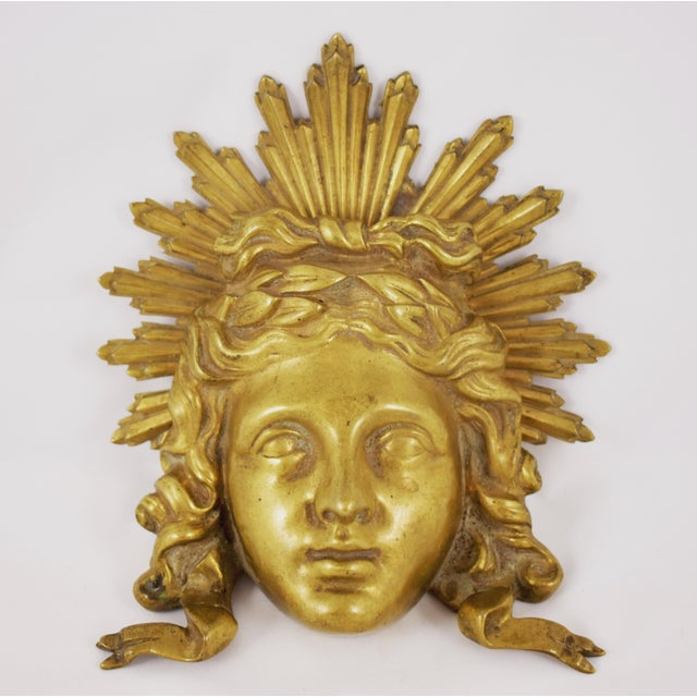 French Ormolu Louis XVI Fragment, The Sun King Head For Sale - Image 10 of 11