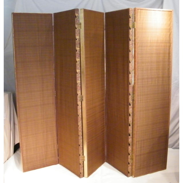 Gold Leaf Floor Screen - 5 Panels - Image 2 of 10