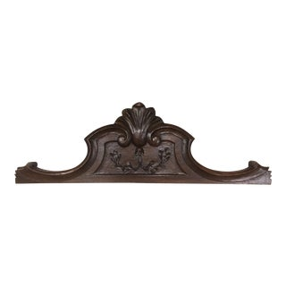 Antique Fragment With Carved Motif (French Walnut From the Late 20th Century) For Sale