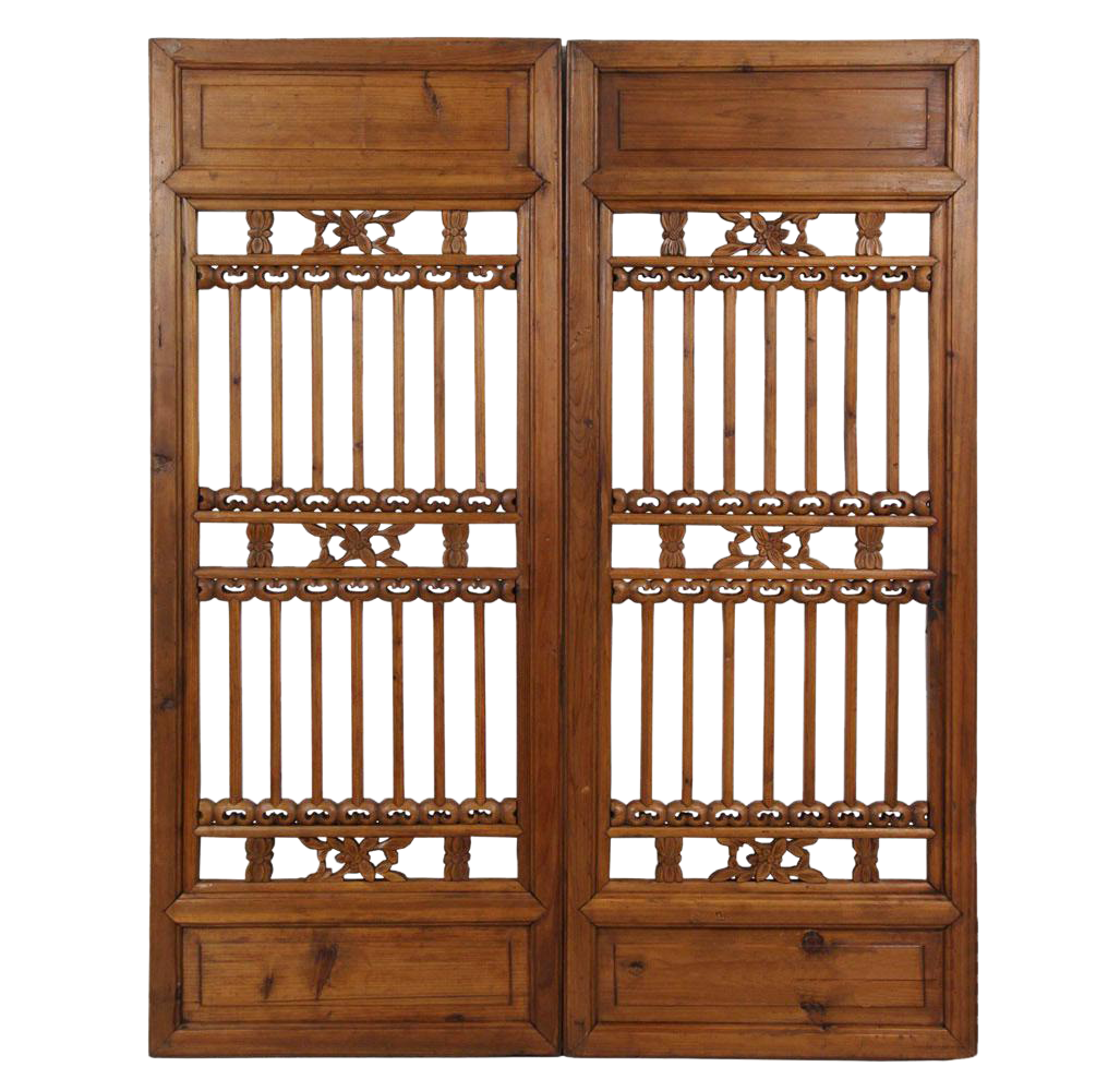 Chinese Antique Carved Window Shutters