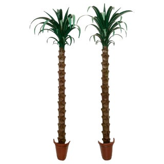 1970s Custom Palm Tree Form Wall Torcheres 9 Ft High - a Pair For Sale