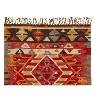 Room-Size Colorful Kilim Rug - 9′ × 12′ Preview