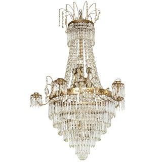 19th Century Swedish Crystal Chandelier