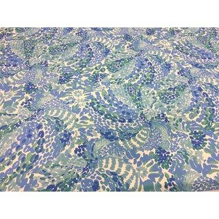 Contemporary Lee Jofa Searchin' Urchin Shorely Blue Indoor/Outdoor Fabric by Lilly Pulitzer -5.5 Yards For Sale
