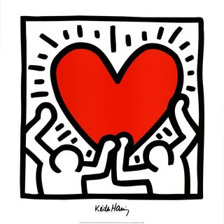 Keith Haring, Unitled (1988), Offset Lithograph, Edition: 2500, 1995 For Sale