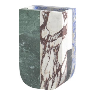 Hancrafted Marble Italian Vase Designed by Arthur Arbesser For Sale