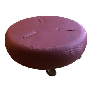 DUNE Large Round Rolling Ottoman For Sale