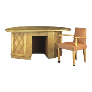 French Mid-Century Modern Neoclassical Desk Attributed to Jean-Charles Moreux