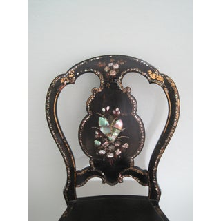 Mid 19th C. Victorian Mother of Pearl Inlay Papier Mache Chair Preview