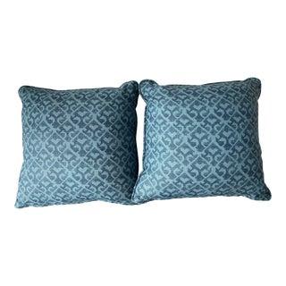 Persian Blue Carolina Irving Pillows - a Pair